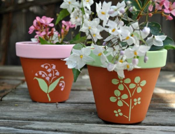 Blumentöpfe-bemalen-originelle-Idee-Haus-Garten-selber-machen-Upcycling-Kunst
