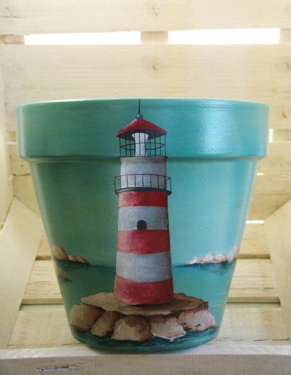 schöner-Blumentopf-Ideen-Dekoration-Leuchtturm