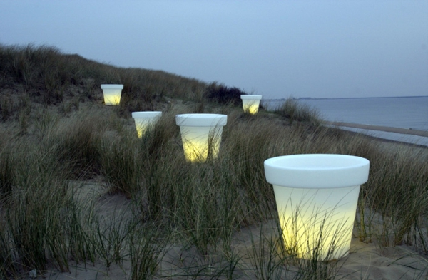 Blumentopf Led Beleuchtung Am Strand Idee