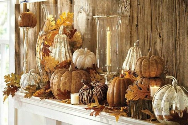 Dekoration-für-den-Herbst-mit-Kürbissen-selber-machen-Ideen
