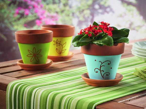 Dekorative Blumentöpfe-Dekoideen-Design