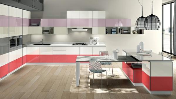 Effektvolle-Küchengestaltung-mit-Farben-Design-Idee