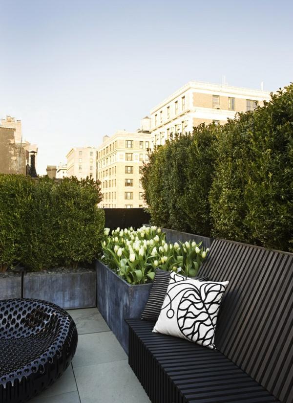 Exterior-Design-Idee-Dachterrasse-Sitzbank