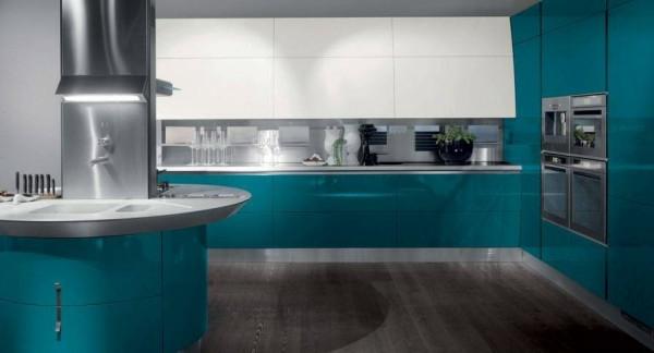 Faszinierende-Küchengestaltung-Türkis-Interior-Design