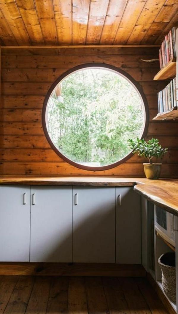 Fenster-in-runder-Form-Küche