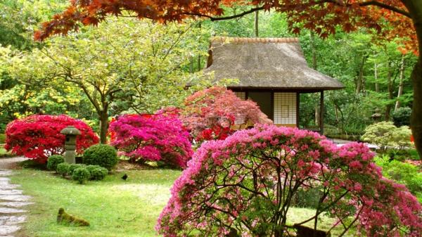 Gärten-in-Japanischem-Stil-im-Frühling-Design-Idee