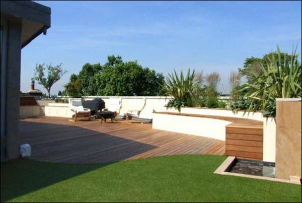 Garten-mit-Gras-auf-der-Dachterrasse