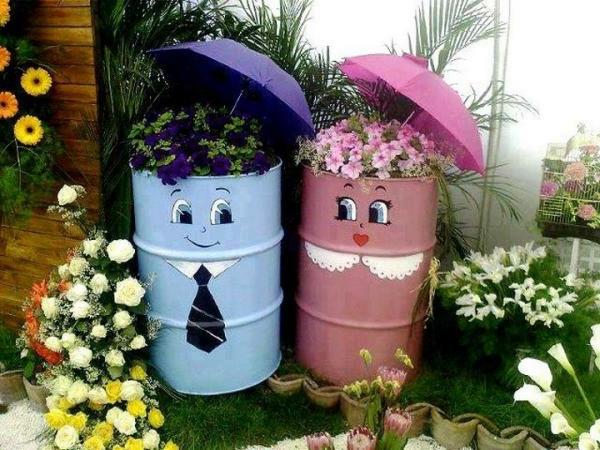 Gartendekoration-Ideen-lustige-Ideen-Zylinder