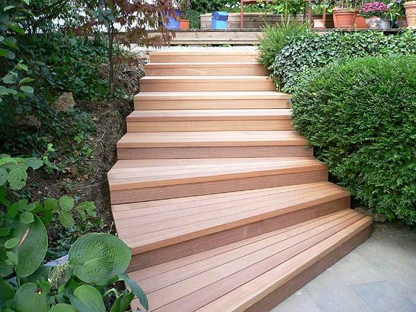 Gartentreppe 33 tolle gestaltungsideen - Gartentreppe holz ...