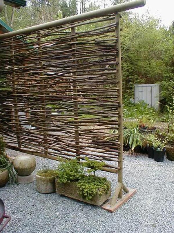Gartenzaun-Zweige-Design-Idee