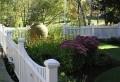 Schöne Ideen für einen Gartenzaun aus Holz in Weiß!