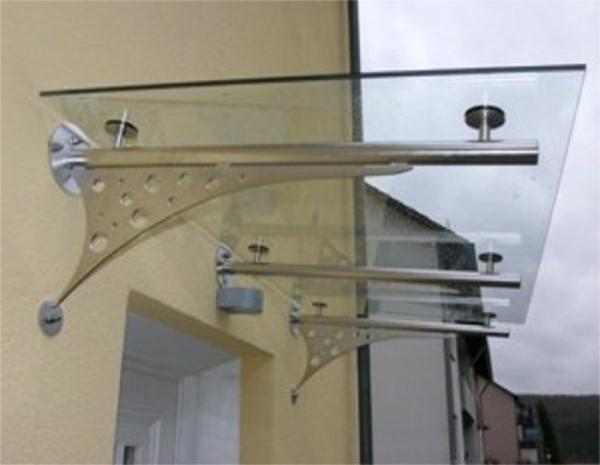 Glasvordächer-Edelstahlvordach