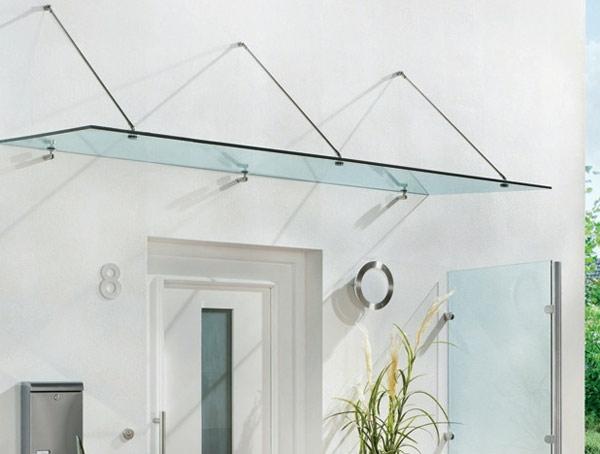 Glasvordächer-Eingang-Design