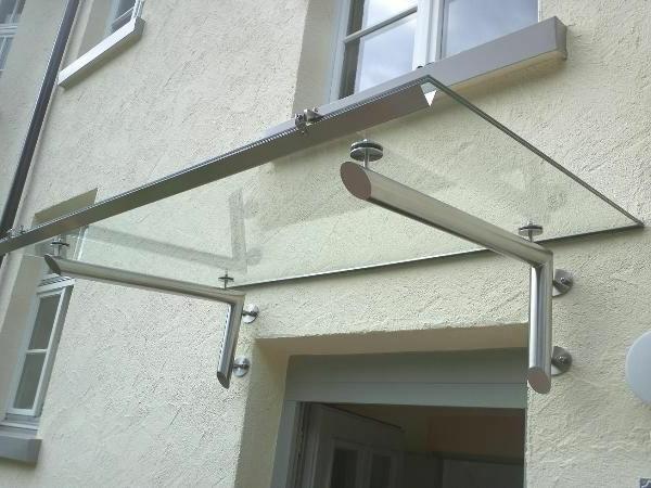 Glasvordach-Edelstahlvordach-Design