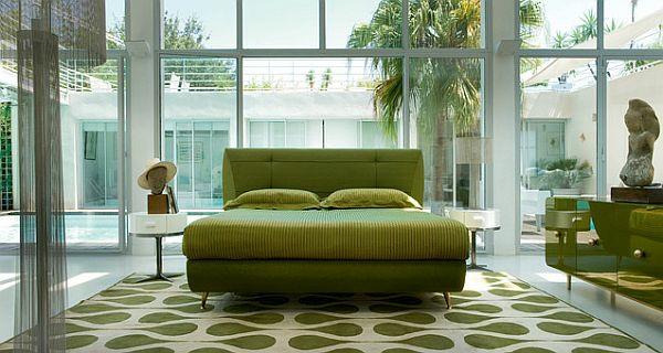 Grünes-Wohnzimmer-Teppich-Ideen
