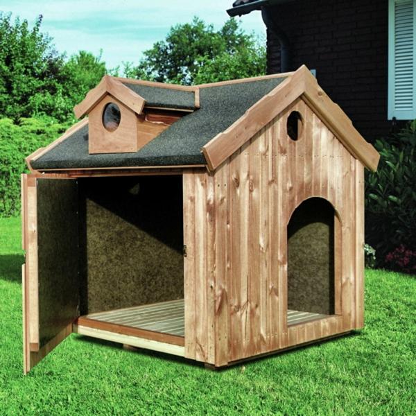 hundehütte selber bauen - super ideen! - archzine.net - Haus Bauen Ideen
