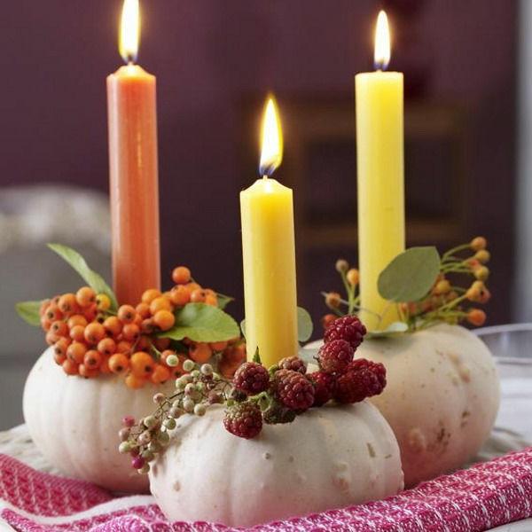 Herbstdeko-selber-machen--Kerzen-in-Kürbissen