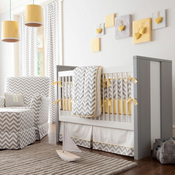 Moderne und wunderschöne Babyzimmer Dekoration! - Archzine.net | {Wanddeko babyzimmer 12}