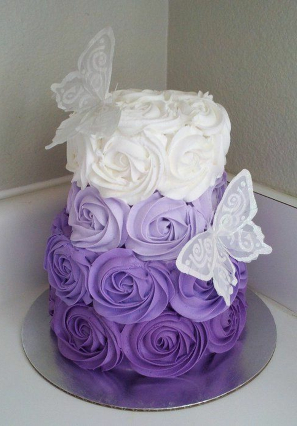 Purple Butterfly Cake Ideas