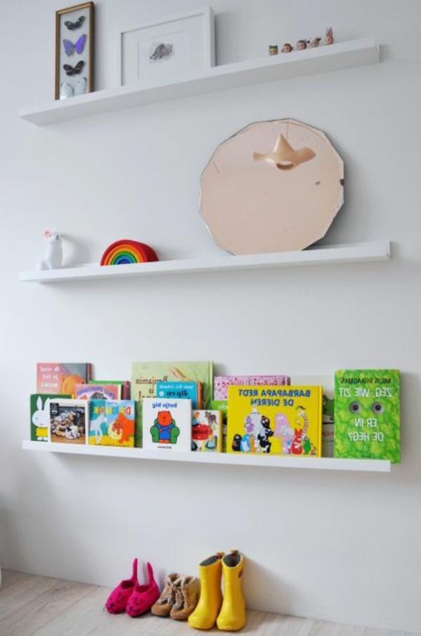 Kinder-Bücherregal-Weiß-Ideen