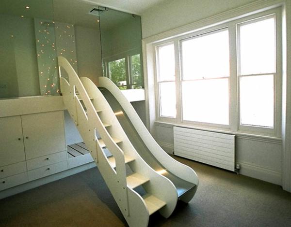 Kinder-Bett-mit-Rutsche-Design