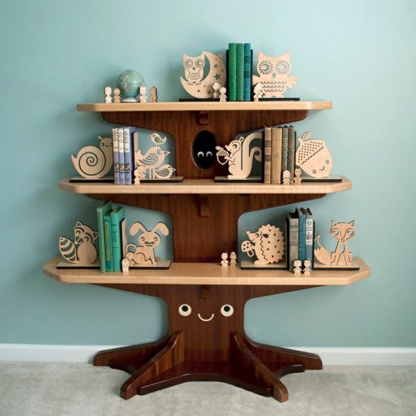 Kinderzimmer-Bücherregal-Baum-Ideen