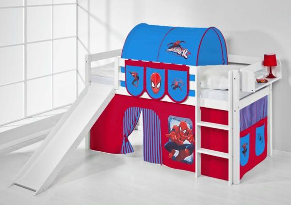 Kinderzimmer-Betten-mit-Rutsche-Spiderman