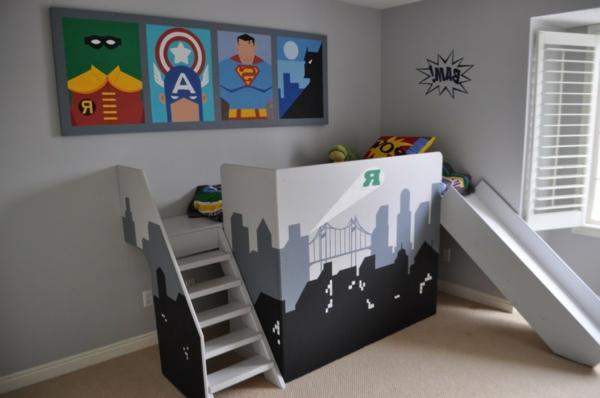 Kinderzimmer-Betten-mit-Rutsche-Design-Idee