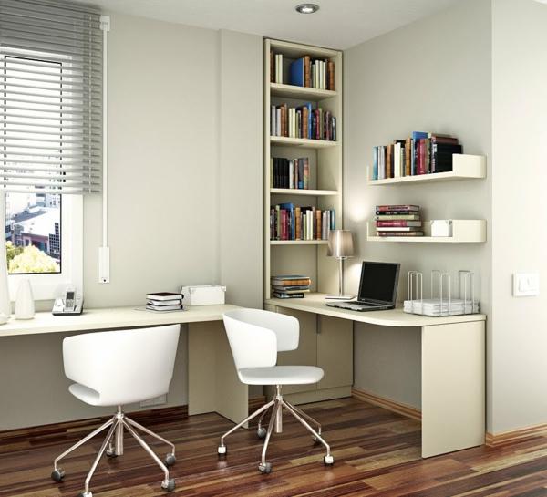 Kinderzimmer-elegante-Bücherregale-in-Weiß