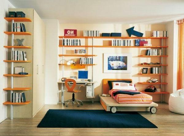Kinderzimmer-funktionelle-Bücherregale-Holz