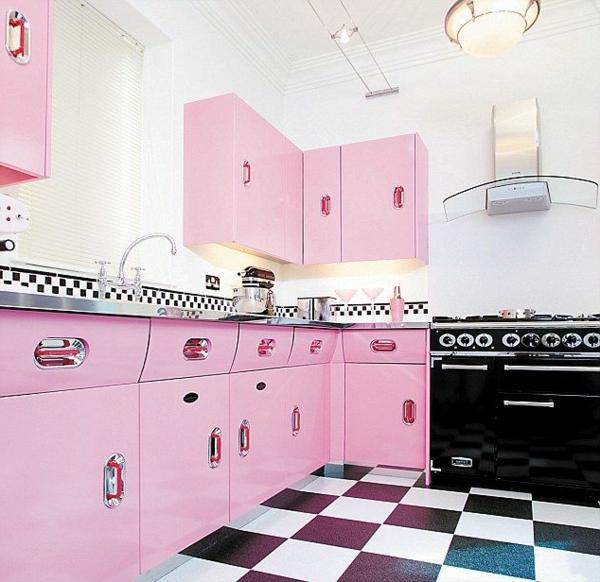 Kreative-Küchengestaltung-Rosa-Idee-Interior-Design