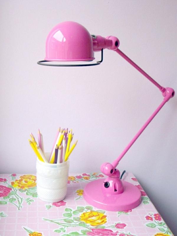 Lampen für-Kinderzimmer-rosa-Lampe-Design-Idee