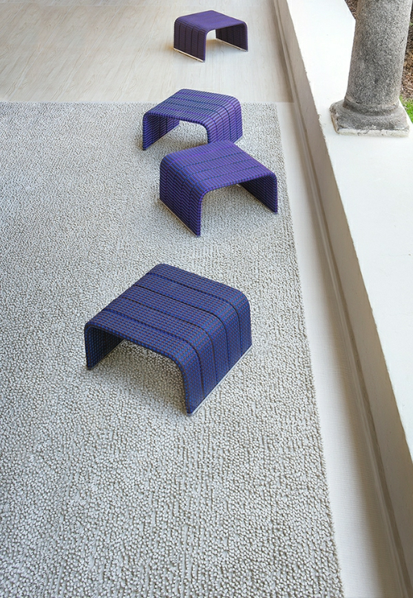 Lounge-Gartenmöbel-Set-rattan-polyrattan-hocker-idee
