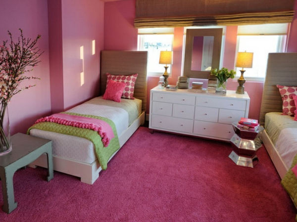 teppich in rosa eine sch ne farbe f r den boden. Black Bedroom Furniture Sets. Home Design Ideas