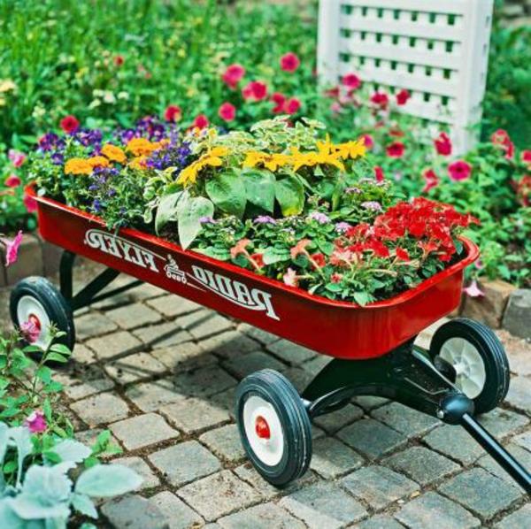 Anhänder-Blumendeko-Gartengestaltung