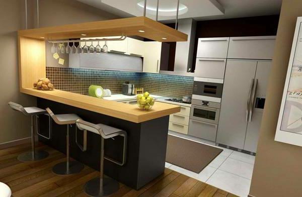Ideen Kleine Oküche. Küchengestaltung. Offene Küche