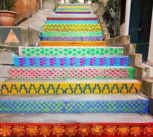 Muster-Treppen-Straßenart-Idee