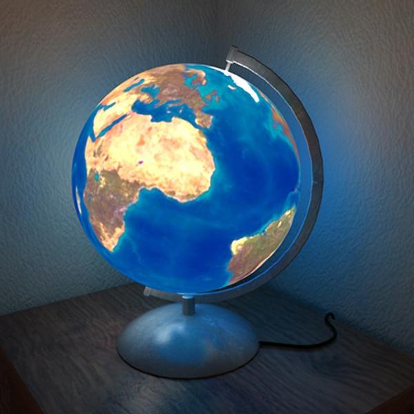Nachlampe-Globus-Kinderzimmerlampen- Ideen
