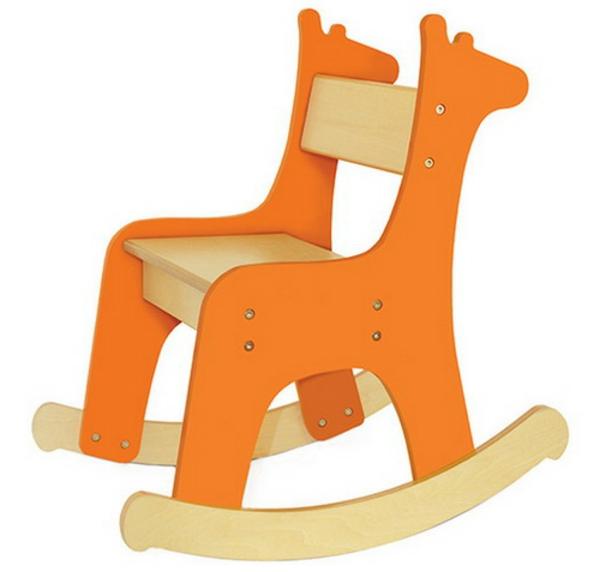 Orange-kids-giraffe-stuhl-design