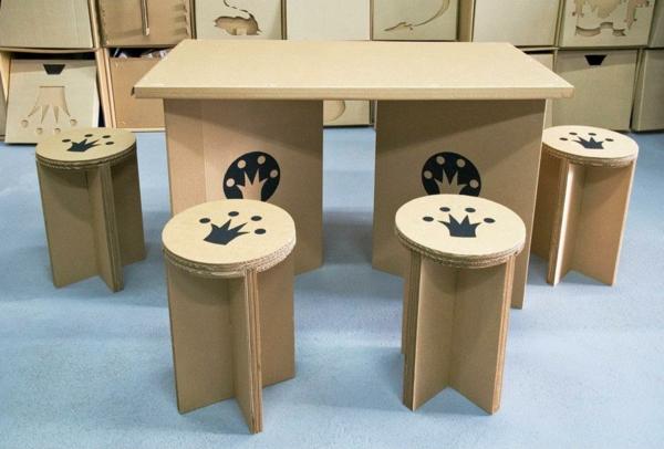 Papphocker-Möbel-Ideen