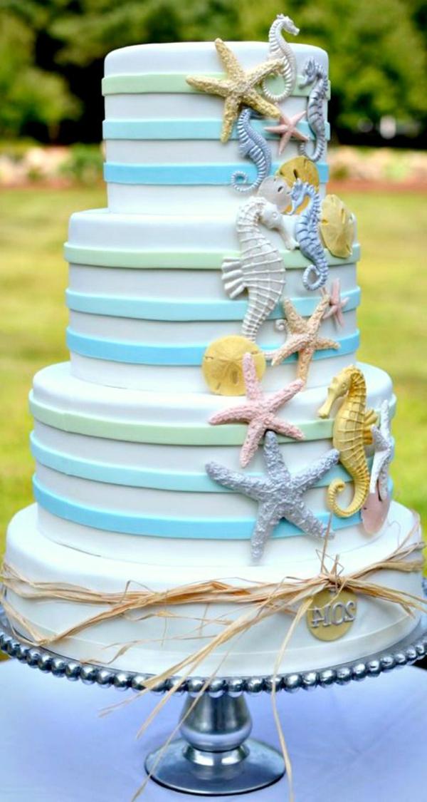 Party-am-Strand-Torte-Dekoration-