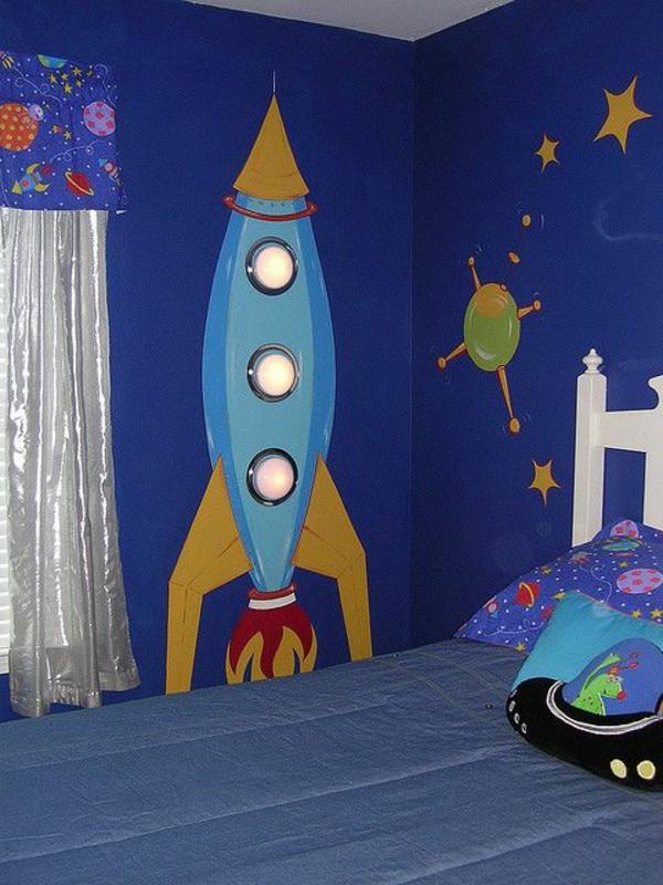 Rakette-Nachtlampe-für-Kinderzimmer-Idee