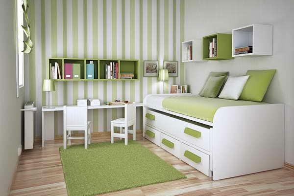 Schlafzimmer-Design-Grüne-Farbe-Idee