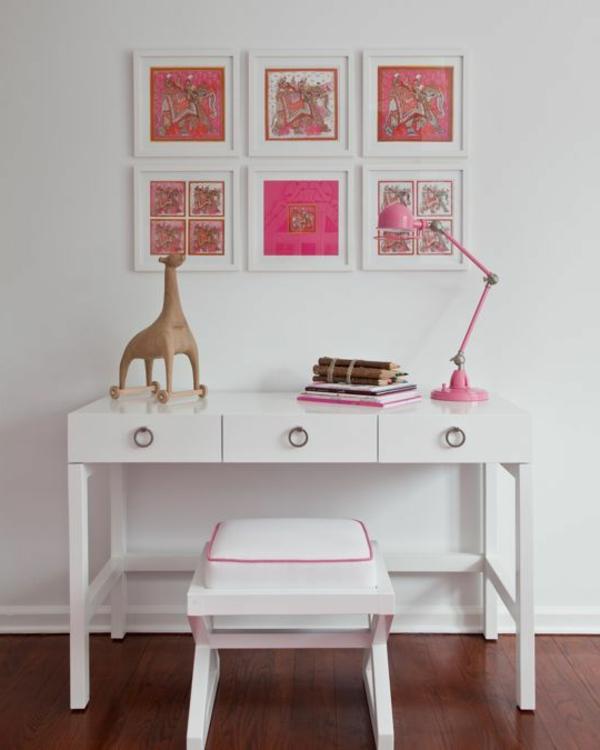 Schreibtischampen-für-das-Kinderzimmer-Idee-weißer-Schreibtisch