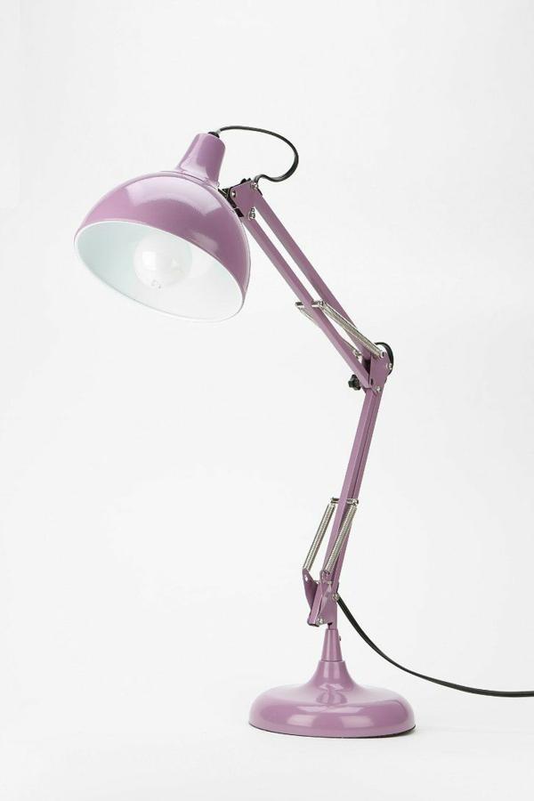 Schreibtischlampe-in-Rosa-Lila