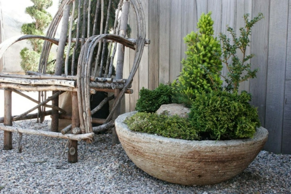 Steintopf-Gartengestaltung-Idee