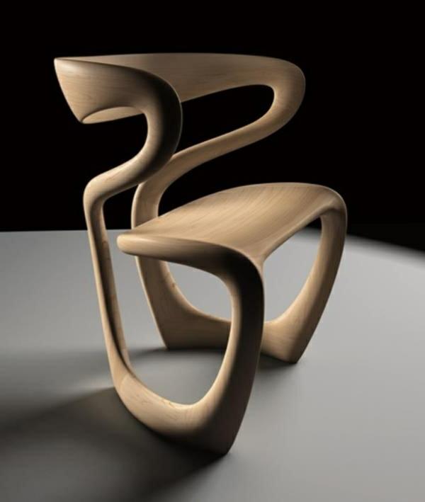 Stuhl-aus-Holz-Designidee