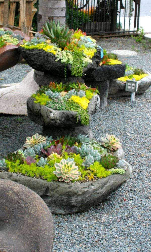 Töpfe-aus-Steinen-machen-Deko-Ideen