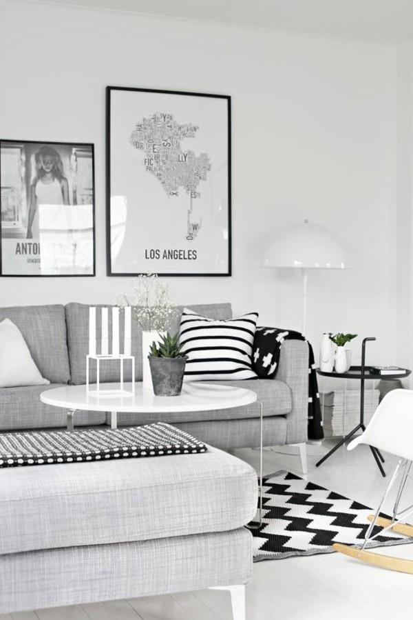 Teppich -Schwarz-und-Weiß-
