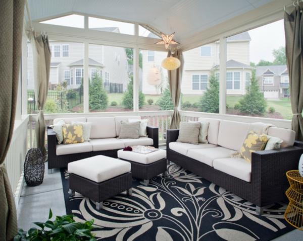 Teppich-Weiß-und-Schwarz-Design-Idee